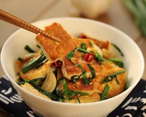 韭菜炒臭豆腐