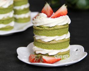 抹茶草莓小裸蛋糕