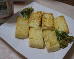 椰子油干煎鸡蛋豆腐