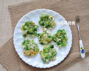 西兰花蘑菇小菜煎饼