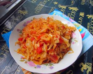 大头菜炒西红柿