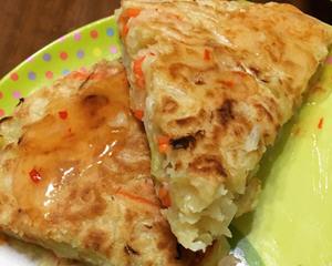 高丽菜虾仁煎饼