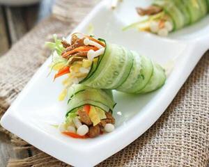 黄瓜时蔬卷