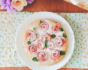 苹果玫瑰花海绵蛋糕