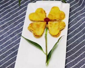 萝卜鸡蛋饼花