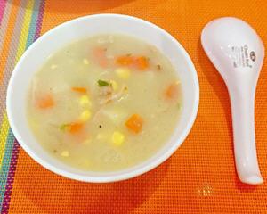 培根马玲薯玉米浓汤