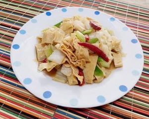 大白菜炒腐竹