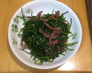 烟熏鸡胗炒水莲(无油版)