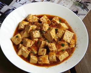 无肉的麻婆豆腐的做法_图解不加肉的麻婆豆腐怎么做好吃
