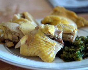 珐琅铸铁锅做无水版白切鸡
