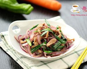 洋葱韭菜炒鸭脯肉
