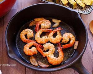 橄榄油香蒜虾
