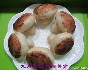 枣泥蘑菇包