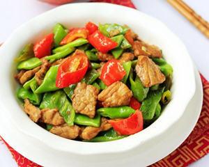 扁豆炒肉片的做法_图解扁豆炒肉片怎么做好吃