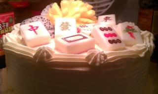 给姑姑的生日惊喜-----麻将蛋糕的做法步骤:11