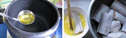 烙饼卷带鱼的做法