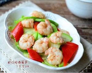 虾仁炒西葫芦
