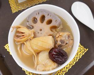 鱿鱼干莲藕汤