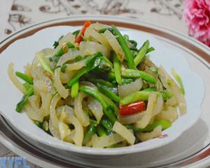 猪皮炒韭菜