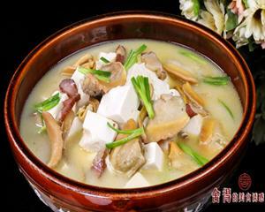 腊味河蚌豆腐