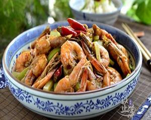 青笋香辣虾