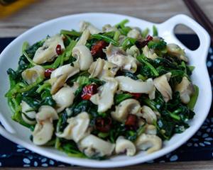 海螺拌菠菜