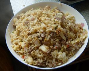 白菜羊肉炒饭