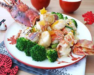 h龙虾干贝乌鱼子拌面(年菜)