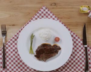 煎牛排配法式土豆泥视频教程