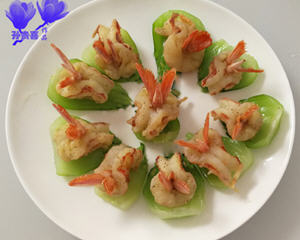 翡翠凤尾虾
