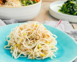 韩式凉拌豆芽菜