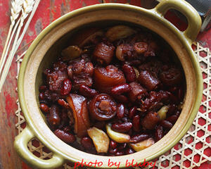 红腰豆焖猪尾(补肾补血)