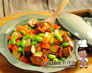 三色炒蔬食