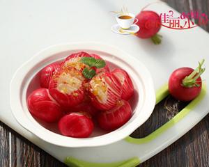 桂花糖醋樱桃萝卜的做法_图解好吃的桂花糖醋樱桃萝卜怎么做