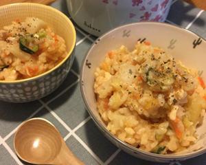 番茄鸡肉蔬菜炊饭