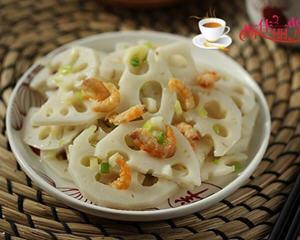 海米葱油拌藕片