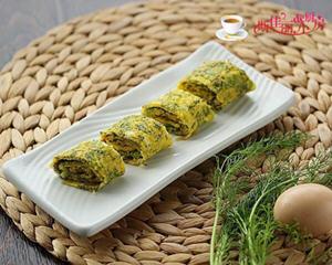 茴香鸡蛋卷饼