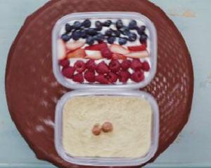 水果奶油盒子蛋糕
