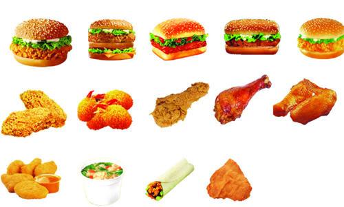 减肥期间吃肯德基图片