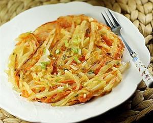 胡萝卜土豆丝煎饼