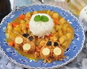 剩米饭做小汽车咖喱饭