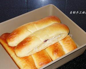 酸奶蓝莓酱排包