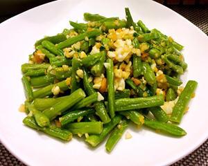 蒜香金沙四季豆