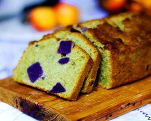 抹茶紫薯磅蛋糕