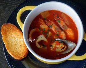海鲜番茄浓汤简易版