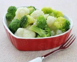 凉拌双花减肥菜