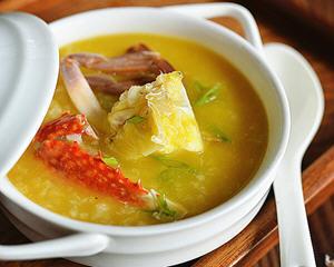 金瓜蟹肉粥电饭煲版