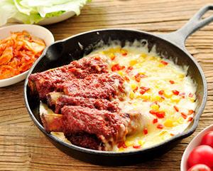 韩国芝士排骨的做法_图解好吃韩国芝士排骨怎么做