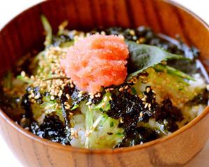鱼子酱绿茶饭
