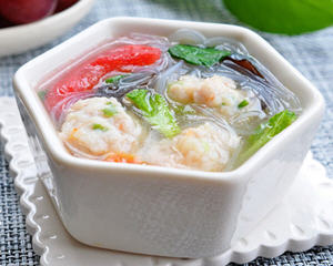 无淀粉鱼丸粉丝汤